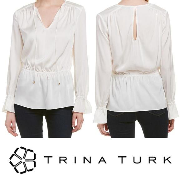 Trina Turk Tops - Trina Turk Laurel Top White Keyhole Back Medium
